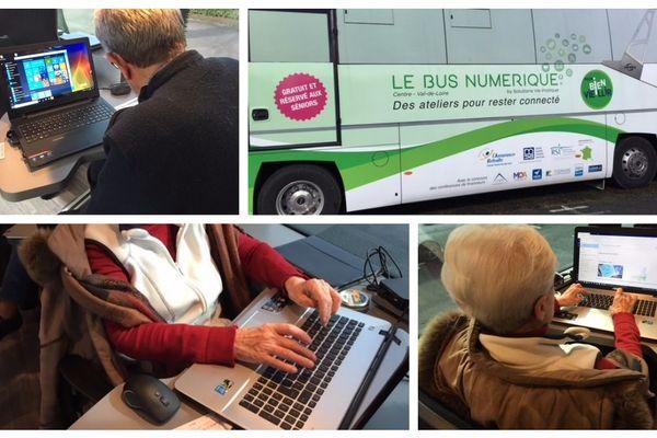 Le bus numérique, une initiative régionale à destination des seniors, sera sur les routes du Centre-Val de Loire toute l'année 2018.