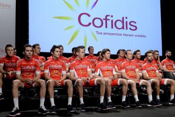 L'équipe Cofidis présentée ce mercredi à Barcelone.