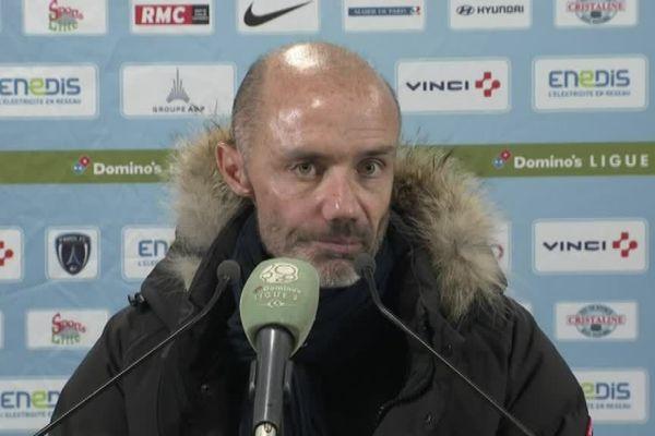 L'entraîneur Cédric Daury n'a pas caché sa déception en conférence de presse.