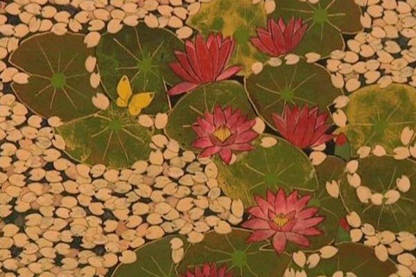Une trentaine de tableaux et paravents peints selon la technique japonaise traditionnelle