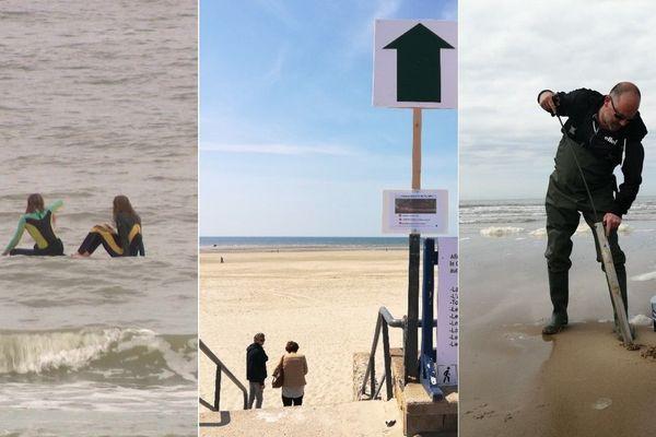 Sur les plages de Malo-les-Bains, du Touquet et de Calais, chacun a retrouvé petites habitudes et grands plaisirs.