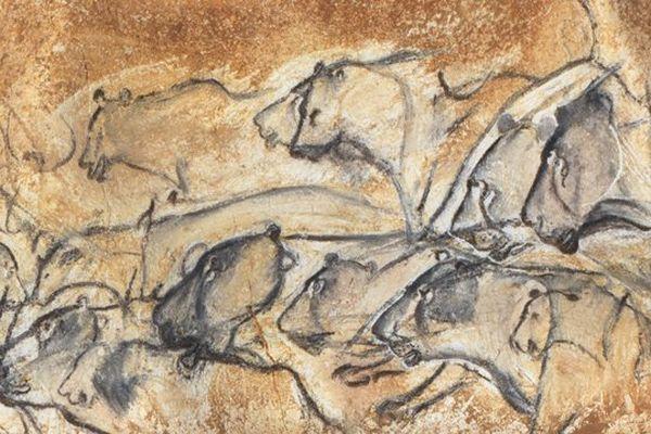 Panneau des Lions, Salle du Fond, détail des lions cl. J. Clottes-MCC