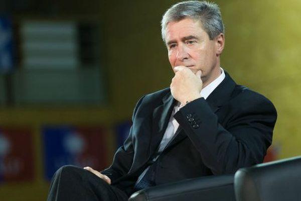 Philippe Briand dans son fief de Saint Cyr-sur-Loire le 15/10/2014 assiste au meeting de Nicolas Sarkozy, alors en campagne pour la présidence de l'UMP.