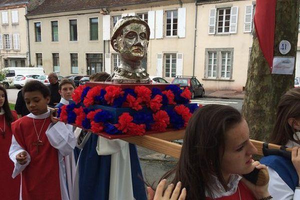 Le buste d'Aredius porté en procession lors des ostensions n'est pas le vrai !