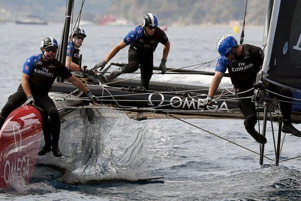 L'équipage néo-zelandais, à Toulon, le 10 septembre 2016