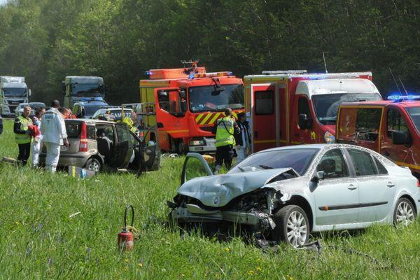 Un accident de circulation à Châtres, en Seine-et-Marne.