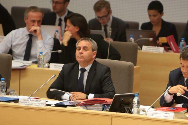 Xavier Bertrand en séance plénière au Conseil régional des Hauts-de-France en 2016