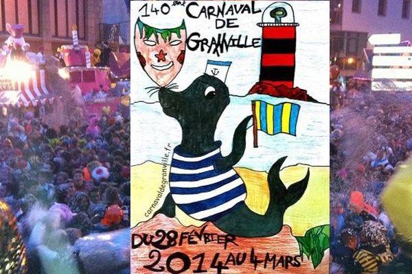 C'est l'affiche réalisée par des élèves de CM2 de l'école Anne-Frank de Saint-Pair-sur-Mer qui a été retenue