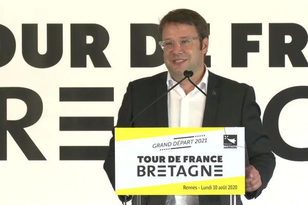 Loïg Chesnais-Girard a confirmé la nomination de Brest comme ville-départ du Tour de France 2021.