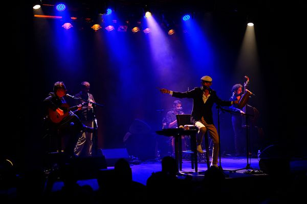 Fabian Ordonez sur scène lors de la présentation de son album