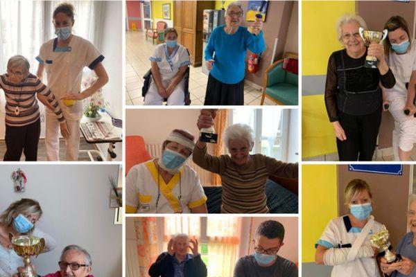 Les résidents de l'EHPAD de L'Orée du bois à Saignes, dans le Cantal, apparaissent dans une vidéo qui connaît un joli succès sur les réseaux sociaux.