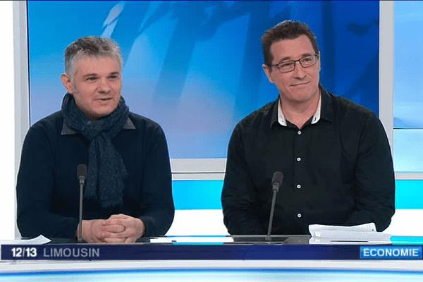 Jean-Paul Parot (CFDT 87) et Lionel Cruveillier (CFDT Madrange), invités du Midi Pile, ce mercredi 4 janvier.