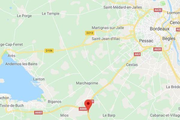 L'accident s'est produit sur l'A63, à une trentaine de kilomètres au sud de Bordeaux