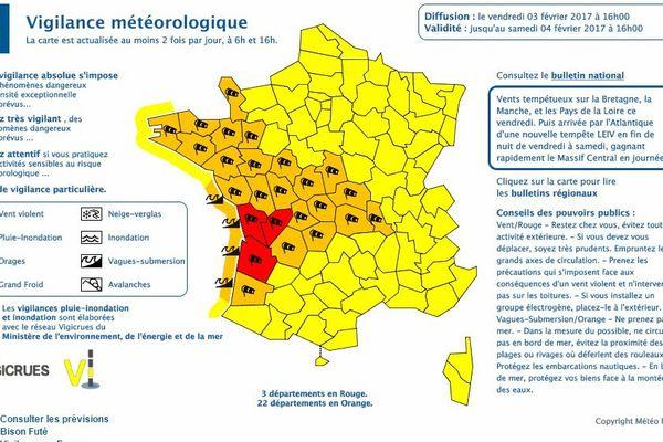 Trois départements de Centre-Val de Loire sont placés en vigilance jaune aux vents violents.