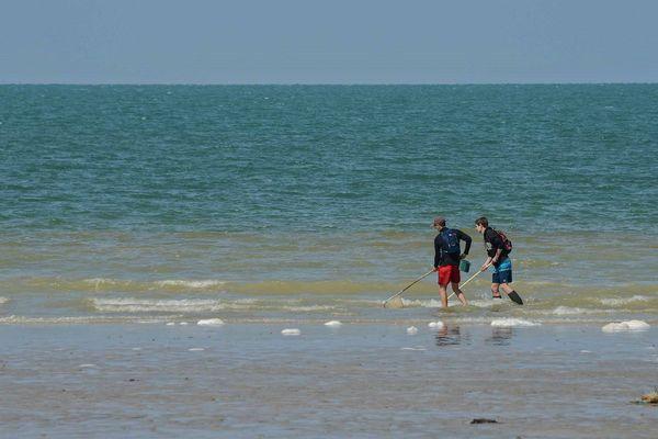 """Dimanche 17 mai 2020 - Après deux mois de confinement retour sur la  plage près de Dieppe  pour une partie de pêche """"au pousseux"""""""