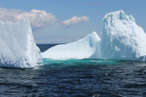 La Mer du Labrador entre l'Est du Canada et le Groenland.