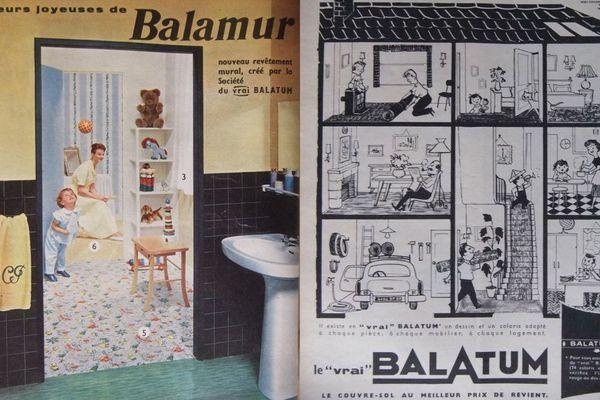 D'anciennes pubs pour Balatum dans les années 58-59