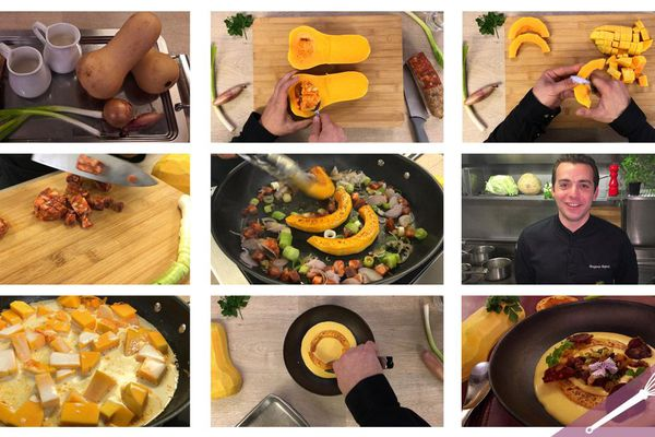 Les grandes étapes du velouté de butternut