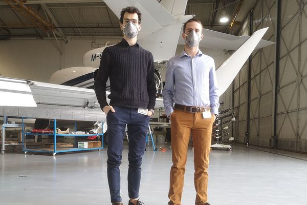 Clément BASSE(à gauche) et Guillaume BONNIN sont en stage aux Etats-Unis.