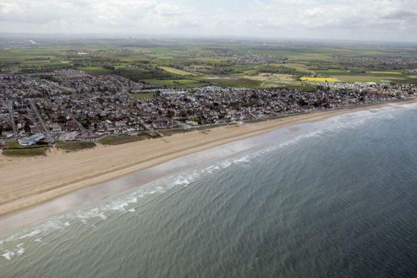 La plage de Ouistreham.