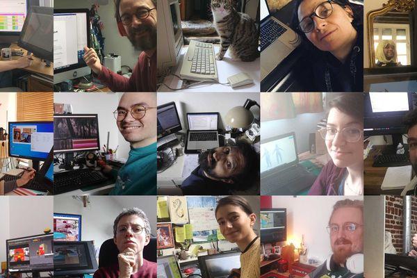 Le studio lillois Tchack continue de travailler en télétravail.