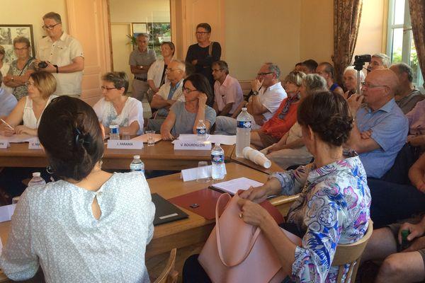 Conseil municipal de Tournus, le 12 juillet 2017.
