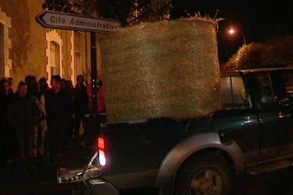 Manifestation des agriculteurs à Châteauroux le 4 novembre au soir