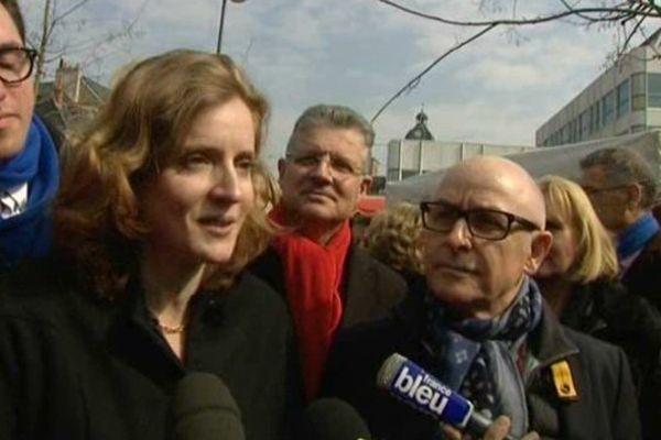 Nathalie Kosciusko-Morizet aux Halles de Tours ce samedi, dans le cadre des élections départementales 2015.