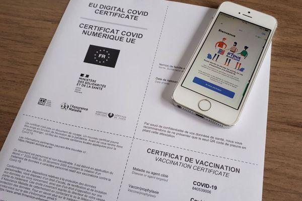 Un certificat de vaccination (illustration).