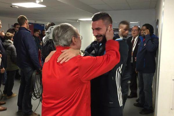 Le 26 octobre 2016, les retrouvailles entre José Garrucho, l'intendant du Clermont Foot, et Romain Alessandrini. Le Marseillais a passé deux saisons en Auvergne entre 2010 et 2012.