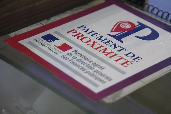 Le logo pour le paiement de proximité chez les buralistes.