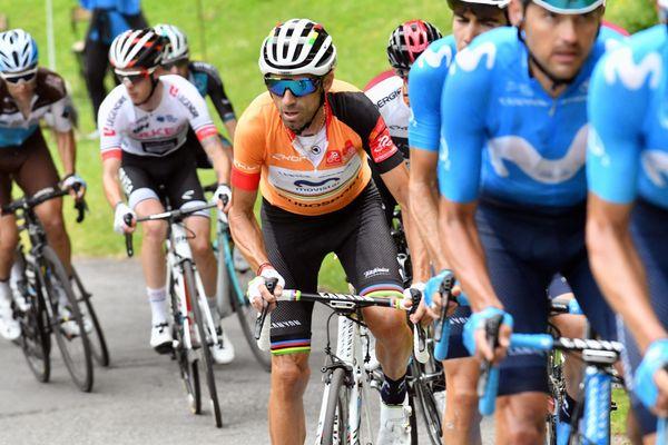 Valverde avec le maillot de leader lors de la 3ème étape