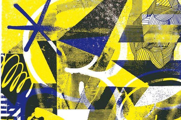 """Détail de la sérigraphie """"Messy Shape"""", créée par Nicolas Blind pour Impressions partagées."""