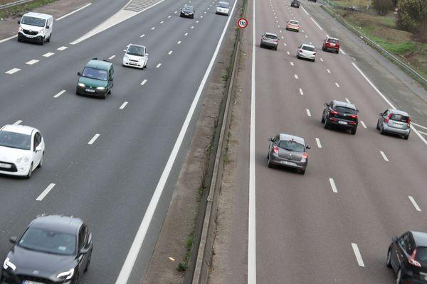 La circulation sur l'autoroute A15 à Montigny-lès-Cormeilles (Val-d'Oise) en amrs 2019 (photo d'illustration).
