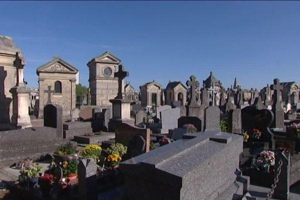 Le cimetière de Saint-Quentin, le dimanche 30 octobre