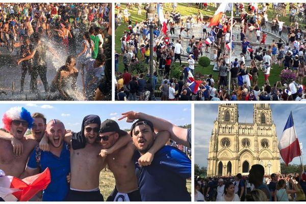 Le Centre-Val de Loire en bleu blanc rouge après la victoires de l'équipe de France de football sacré champions du monde !