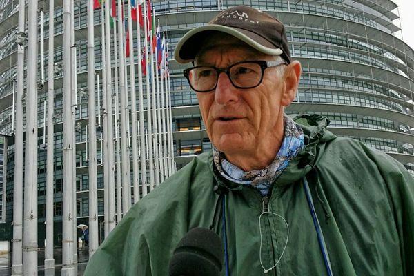 Christian Baucheron vendredi le Parlement européen à Strasbourg