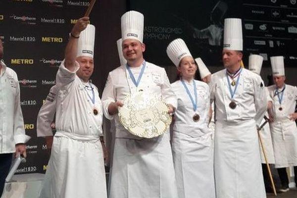 Le chef catalan de Bélesta Laurent Lemal a remporté le prix spécial viande au Bocuse d'Or Europe - 11 mai 2016