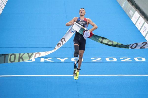 Lors des Jeux paralympiques de Tokyo, le Rouennais Alexis Hanquinquant a décroché une médaille d'or sur l'épreuve de triathlon.