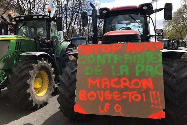 Mobilisation régionale contre la réforme de la PAC à Bourges ce mardi 6 avril