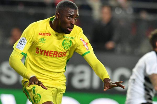 Jules Iloki lors de la rencontre en tre le FC Nantes et le Stade Rennais le 28 janvier 2017