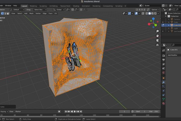 capture d'écran sur Blender