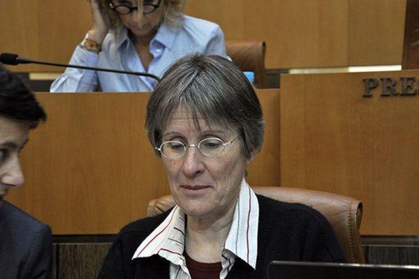 Agnès Simonpietri sur les bancs du Conseil Exécutif