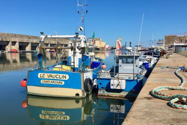 La flotille de pêche dans  le bassin à flot de Saint-Nazaire