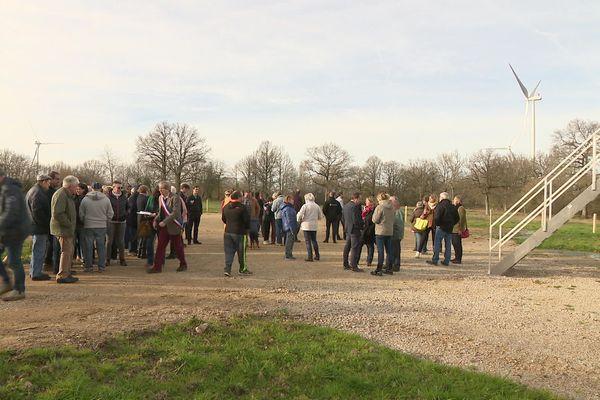 L'inauguration du parc éolien a eu lieu en présence de certains opposants