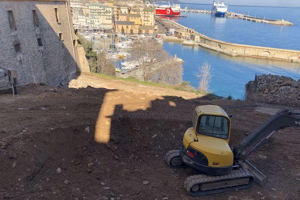 Le chantier de Mantinum, à la citadelle de Bastia