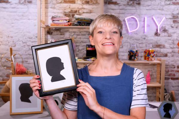 La silhouette de la fille de Caroline Boeglin encadrée.