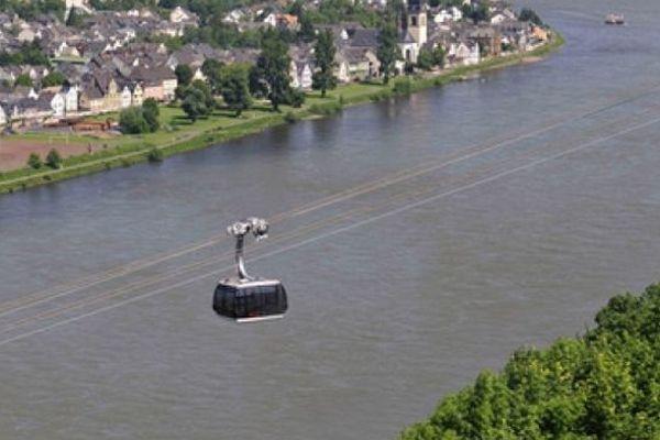 Le tram aérien de Coblence (Allemagne)