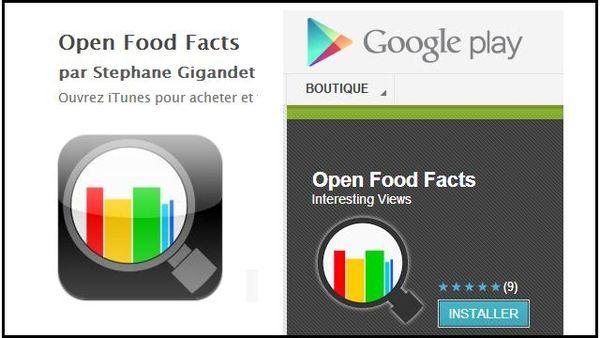 Las applications  disponibles dans l'Applestore et l'Andoïd Market