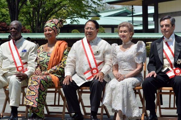 François Fillon décoré du  «Grand Cordon de l'Ordre du Soleil Levant» au Japon